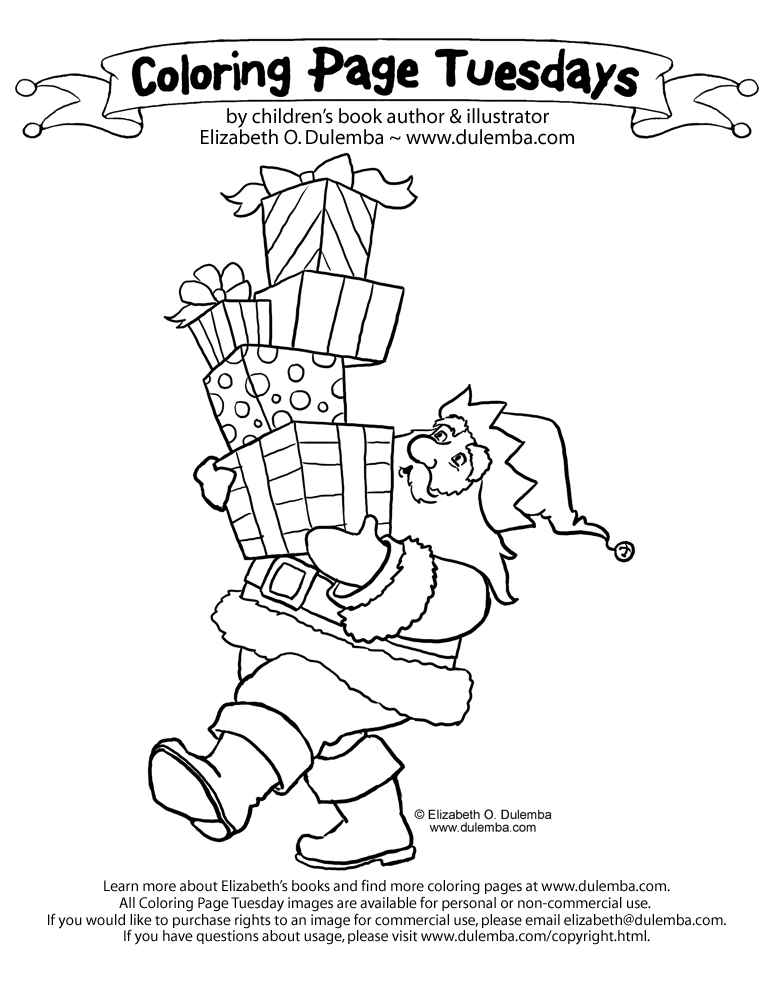 dulemba: Coloring Page Tuesday! - Too Many Presents!