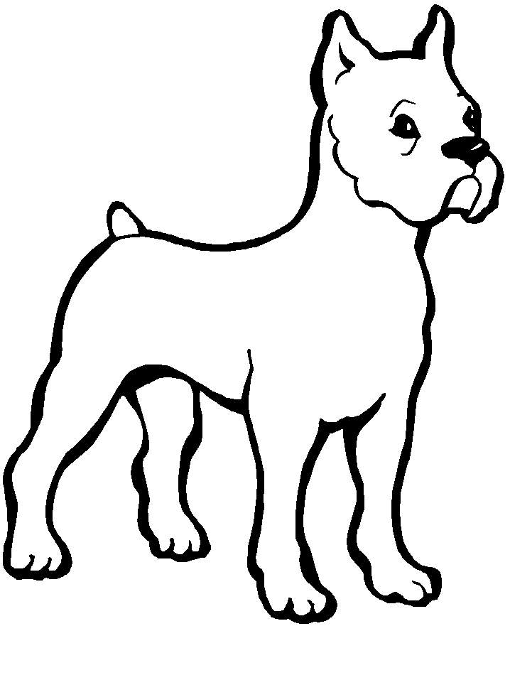 Dog Coloring Book Page AZ Coloring Pages