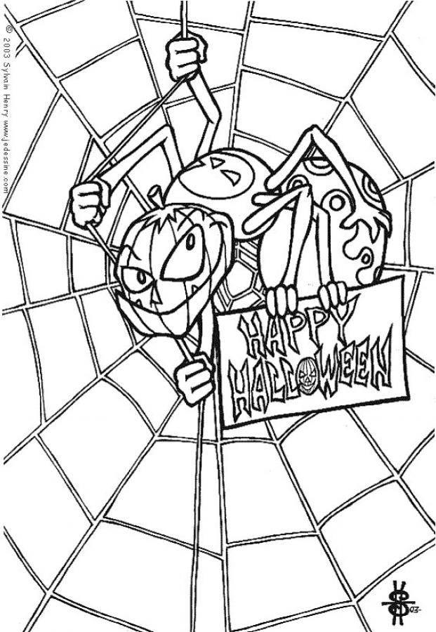 SPIDER coloring pages - Jack O'lantern spider