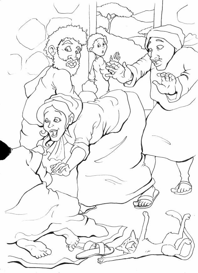 Jesus Heals Blind Bartimaeus Coloring Page Coloring Pages Blind Bartimaeus Coloring Page