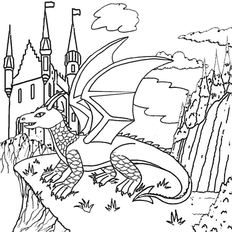 printable pictures of dragons | Coloring Picture HD For Kids