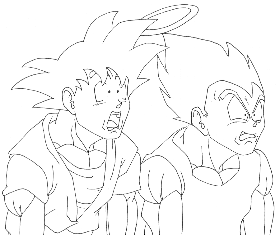 Goku and Vegeta inside Buu by OsoroshiiYasai on deviantART