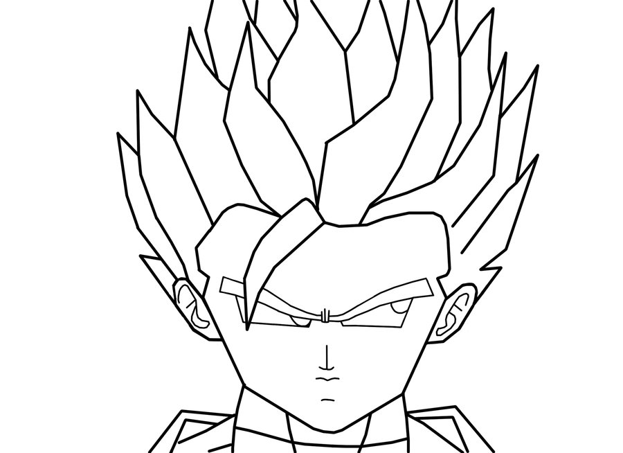 dragon ball z coloring pages trunks super saiyan : Printable