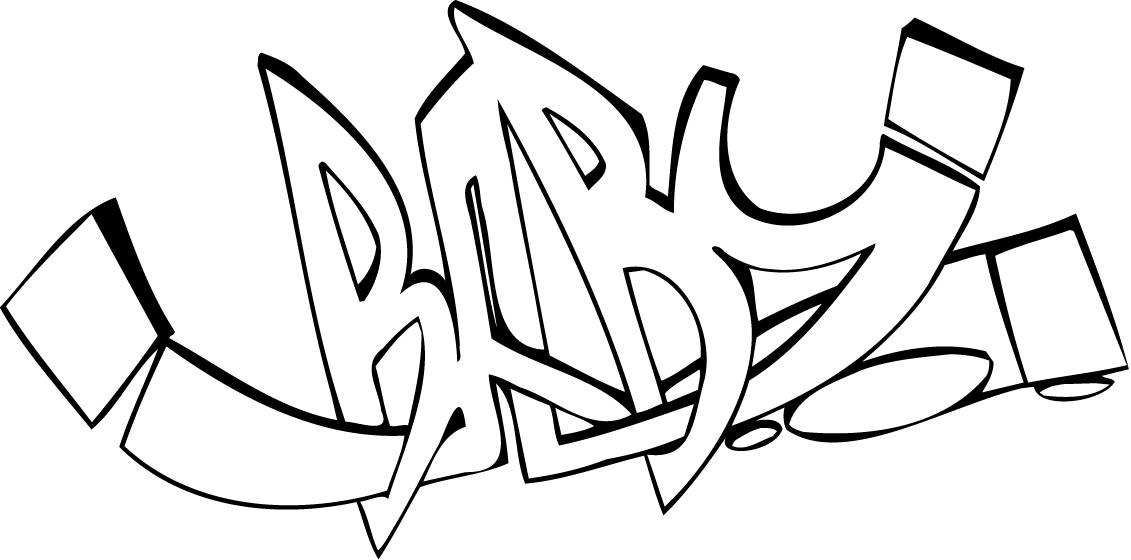 The Word Swag In Graffiti Coloring Pages