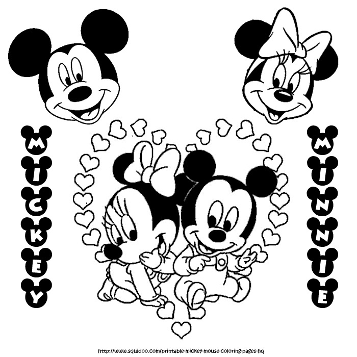 minnie mouse and mickey mouse coloring pages - mickey and minnie mouse coloring pages az coloring pages