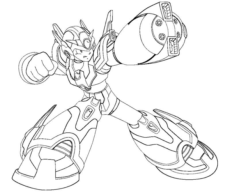 mega man coloring pages free - photo#13