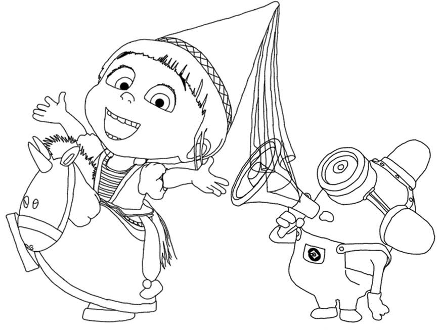Agnes Colouring Pages Page 2 Download Printable Despicable Me