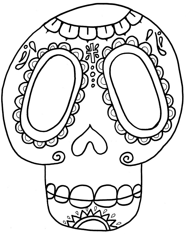 Day Of The Dead Skull Coloring Pages Az Coloring Pages Day Of The Dead Skull Coloring Pages