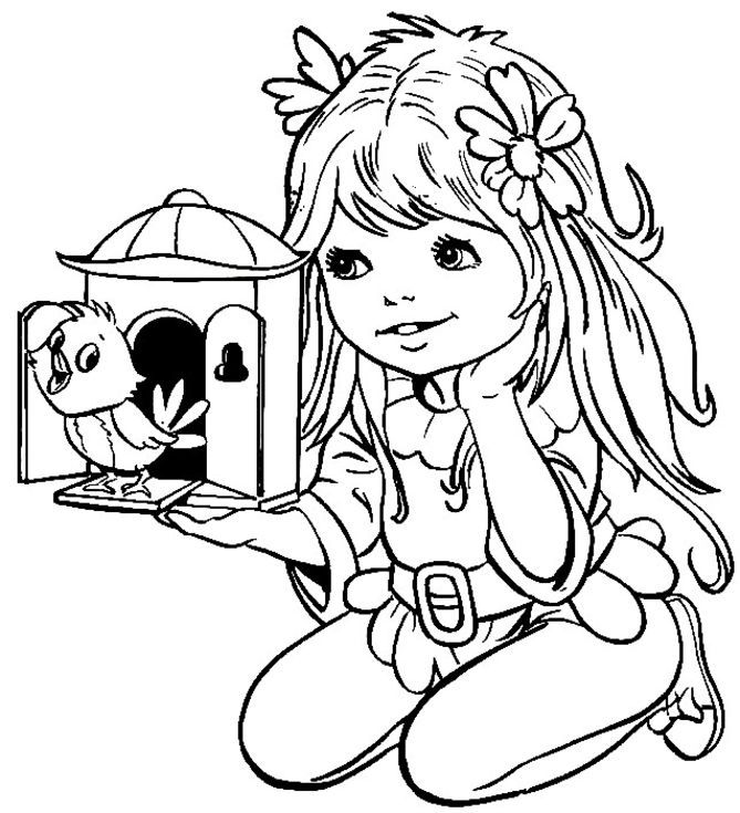 com girl coloring pages - photo#14