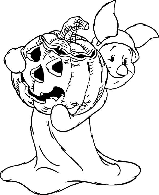 curious george pumpkin coloring pages - photo#7