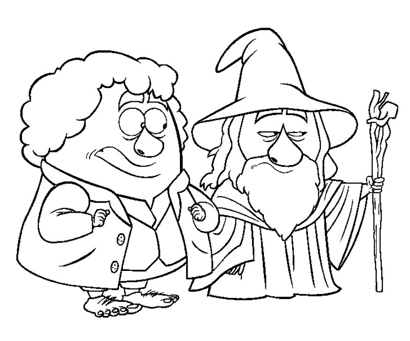 hobbit character coloring pages - photo#1