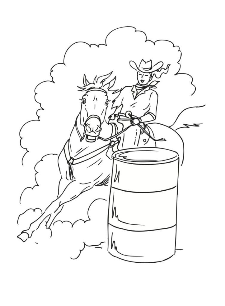 - Barrel Racing Coloring Pages - HD Printable Coloring Pages - Coloring Home