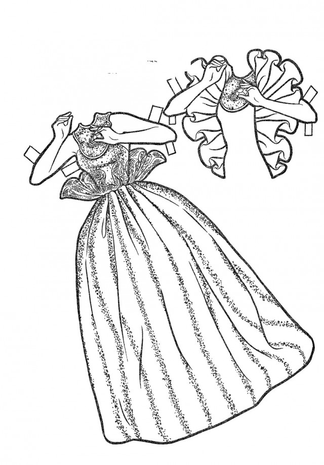 Barbie Fashion Clothes Coloring Pages Barbie Doll Coloring Pages a