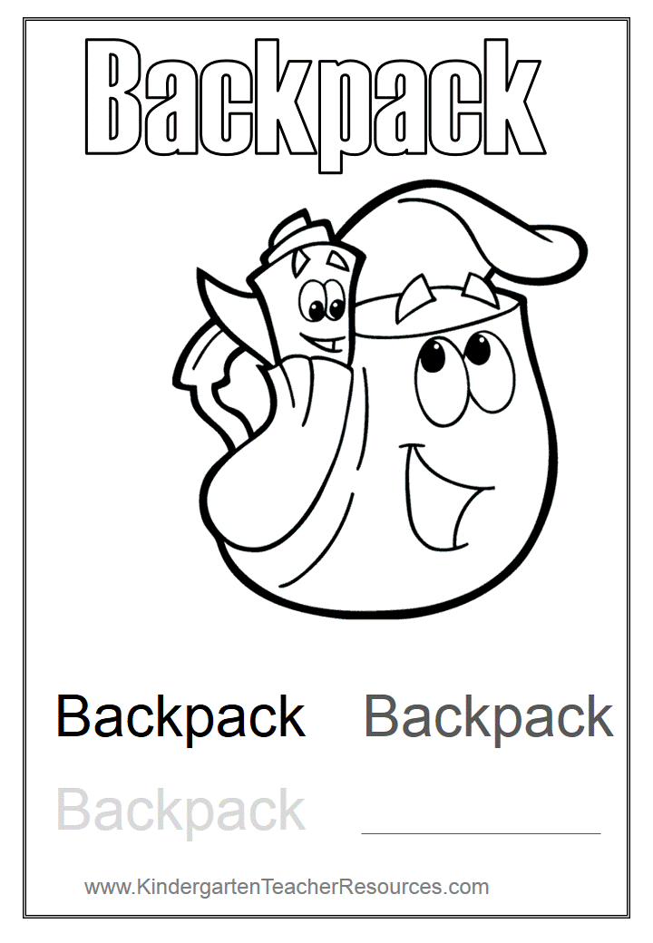 Dora Backpack Coloring Page Coloring Home