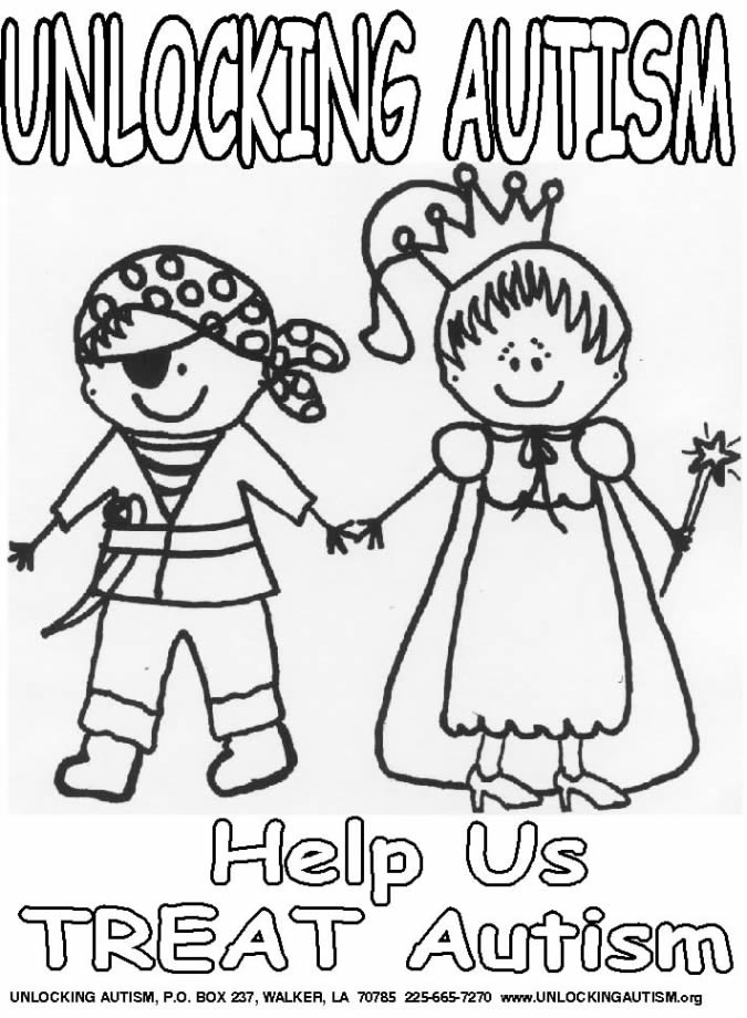 autism awareness month coloring pages - photo#35