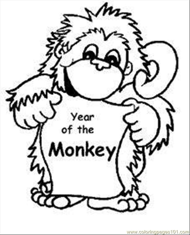 Coloring Pages Aby Monkey Coloring Pages Med (Mammals > Monkey
