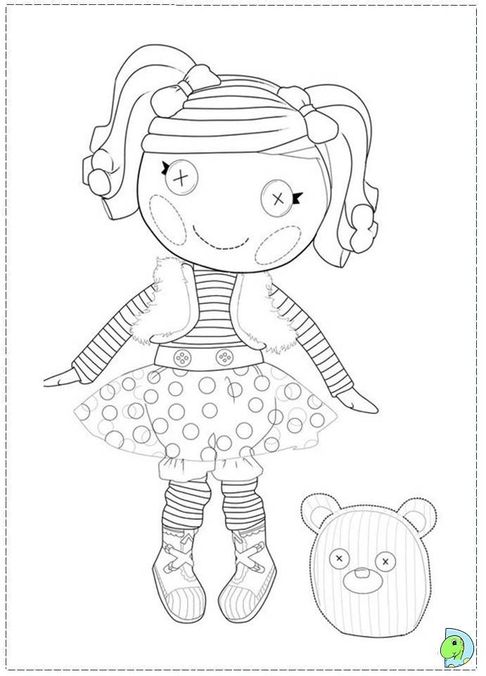Free Coloring Pages Of Lalaloopsy Dot