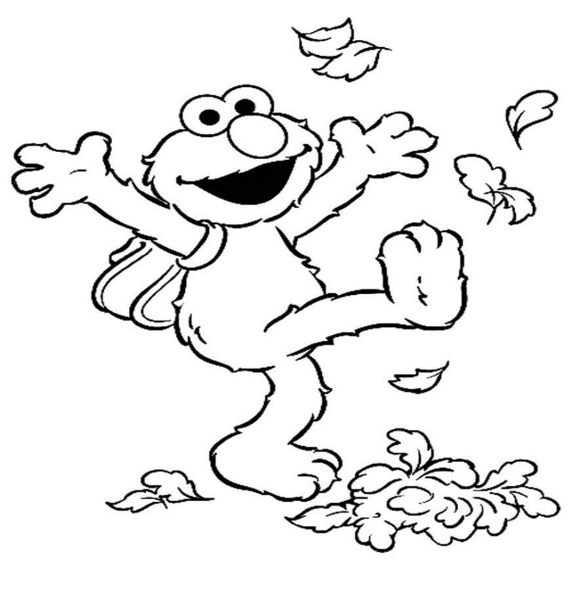 Coloring Pages Printable Elmo - Coloring Home