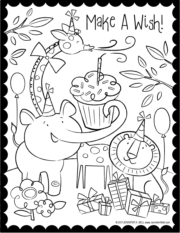 Happy birthday color pages az coloring pages - Color for th birthday ...