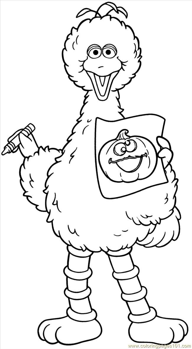 Big bird coloring pages to print az coloring pages for Big bird coloring pages printable free