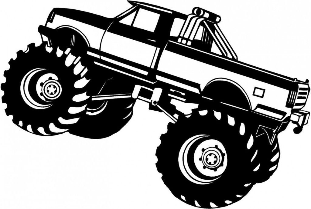 Latest Of Monster Truck Coloring Page Pages For Wallpaper