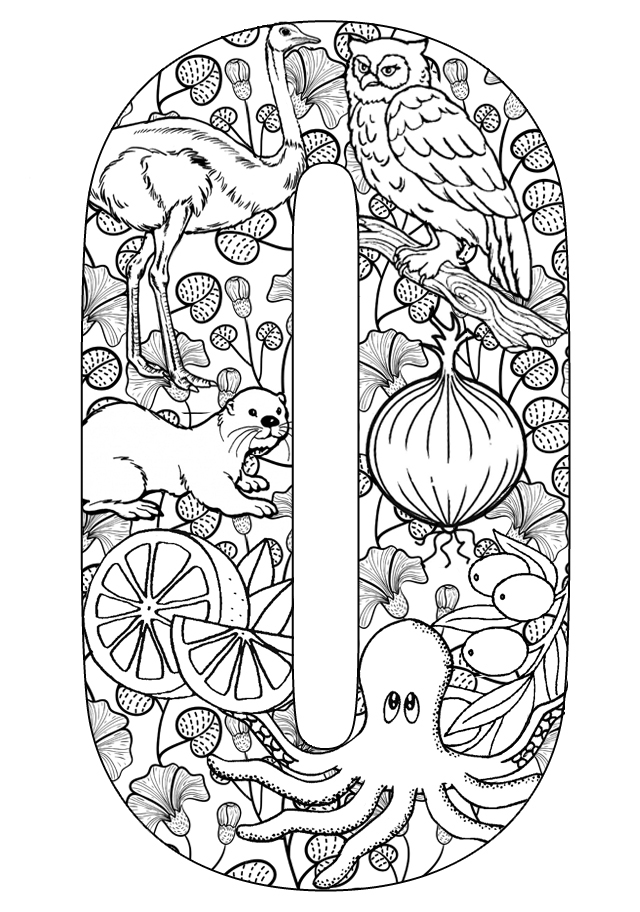 The Letter O Coloring Pages AZ