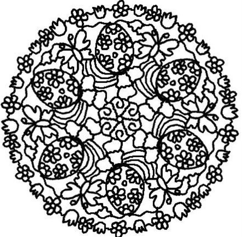 Download Easter Eggs Mandala Coloring Pages Or Print