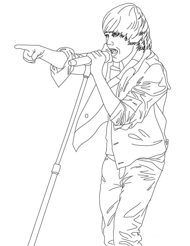coloring pages justin bieber print - photo#29