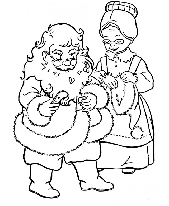 Mrs. Claus Christmas Coloring Page Coloring Pages
