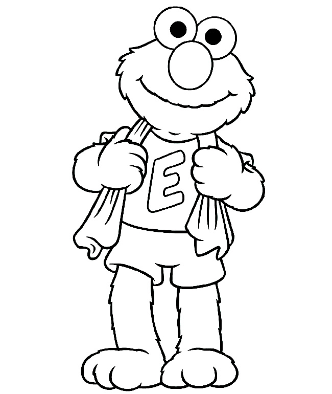 elmo face coloring pages free - photo#24
