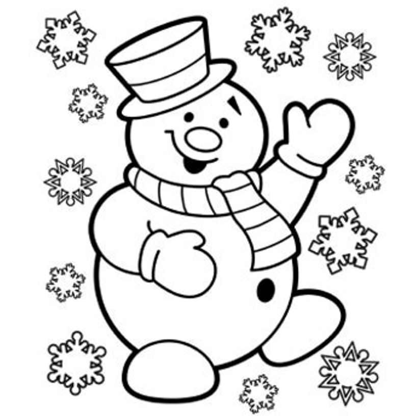 coloring pages and snowman - photo#11