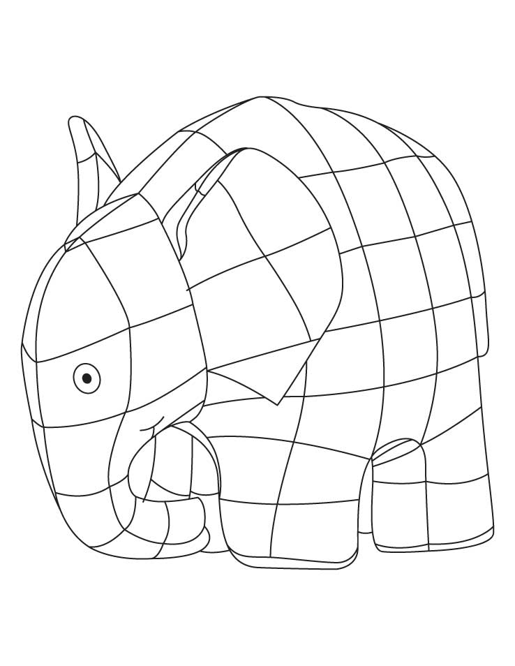 graphic regarding Elmer the Elephant Printable titled Elmer The Elephant Coloring Web page - Coloring Residence