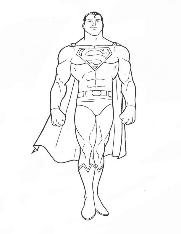 Kids Coloring Page Superman Free | Kids Coloring Page