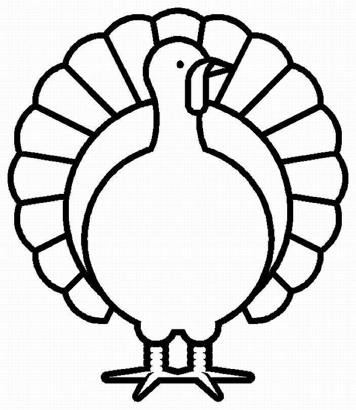 Cute Turkey Coloring Pages Clipart Panda