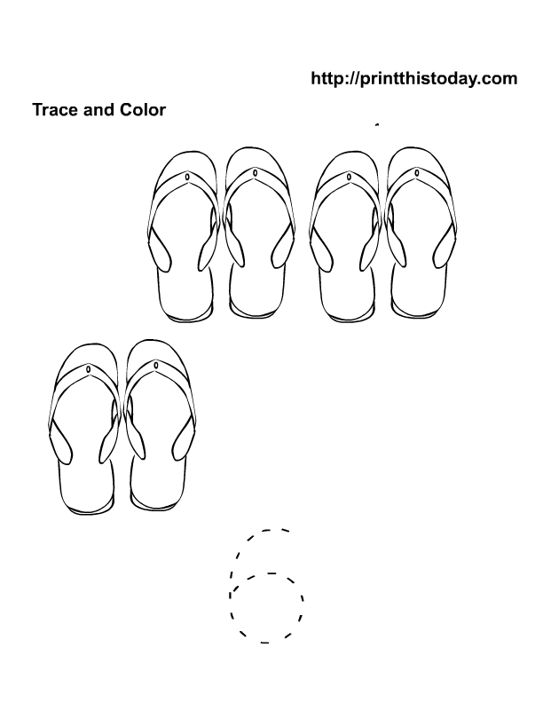 Free Printable Flip Flop Coloring Pages - Coloring Home