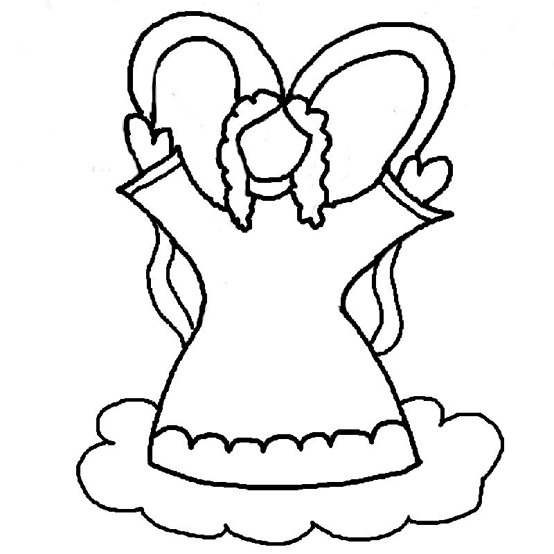 free angel wings coloring pages - photo#6
