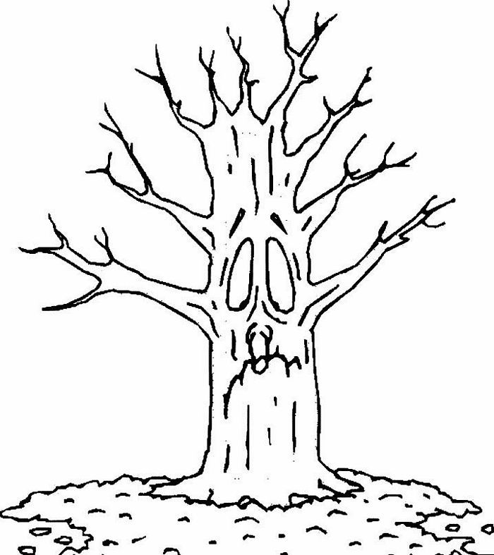 autumn tree coloring page - coloring pages tree coloring home