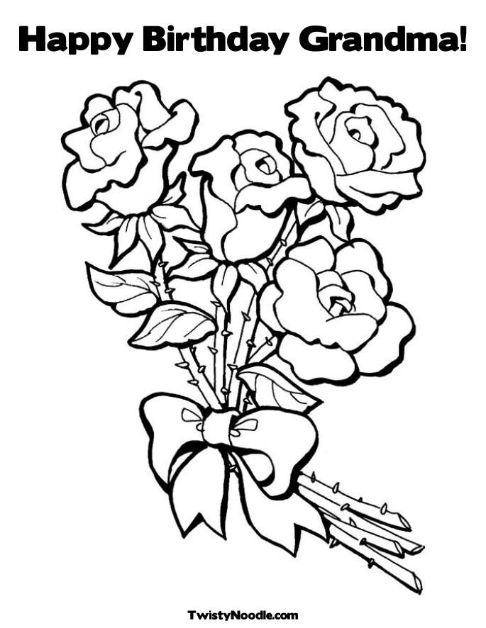free birthday coloring pages grandmother - photo#10