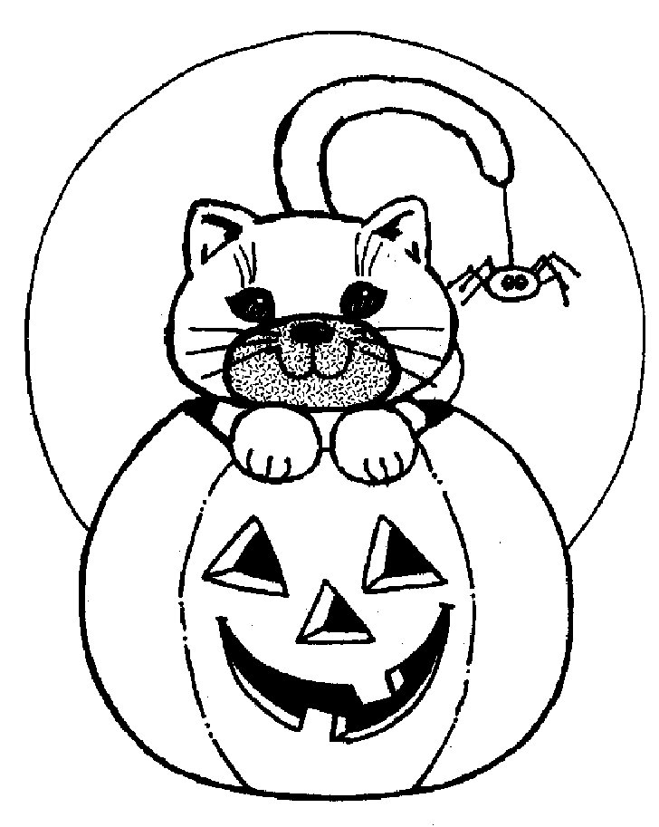 Blank Halloween Coloring Pictures