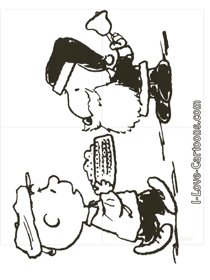 christmas snoopy coloring pages - photo#14