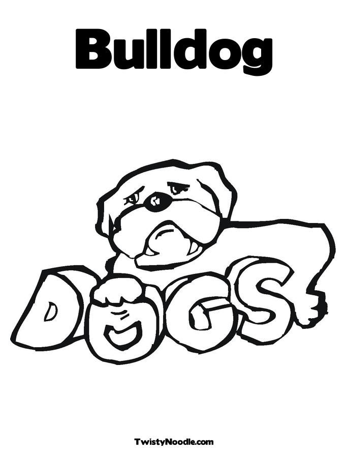 Bulldog Coloring Sheets - Coloring Home