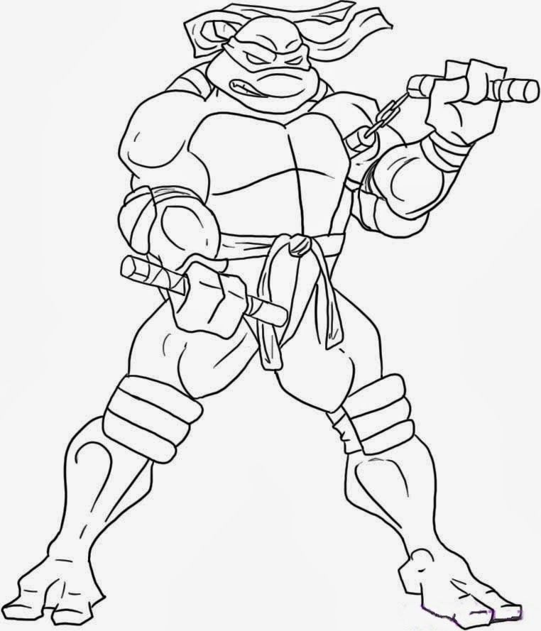 teenage mutant ninja turtles coloring pages fun printable - Teenage Mutant Ninja Turtles Coloring Book