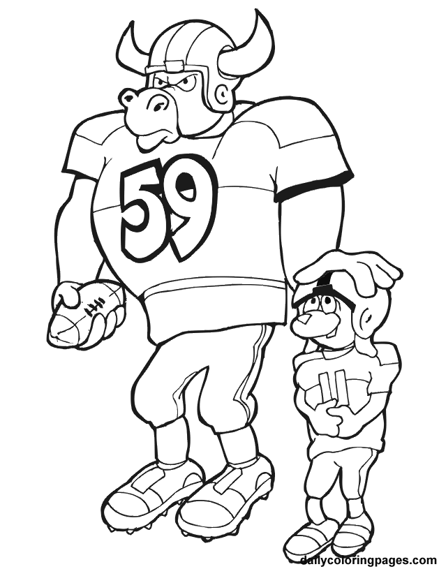 Nfl Football Coloring Pages Sheets