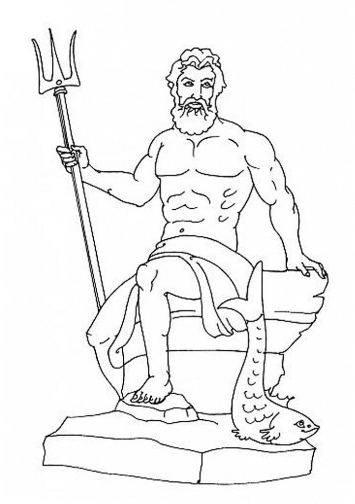 Zeus Vs Hades Art Greek Mythology Coloring Pages