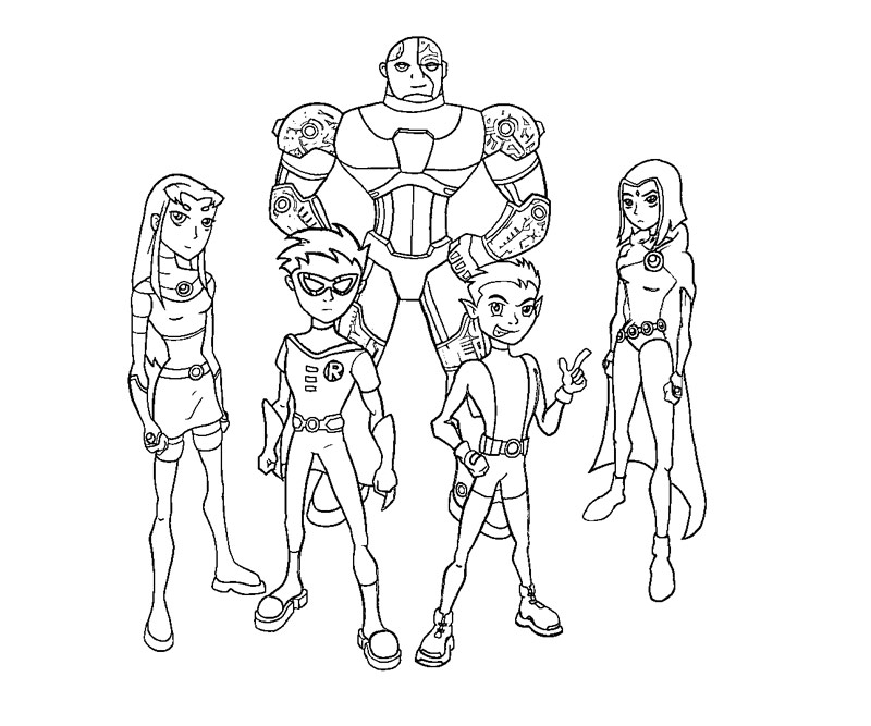 teen titans coloring page az coloring pages