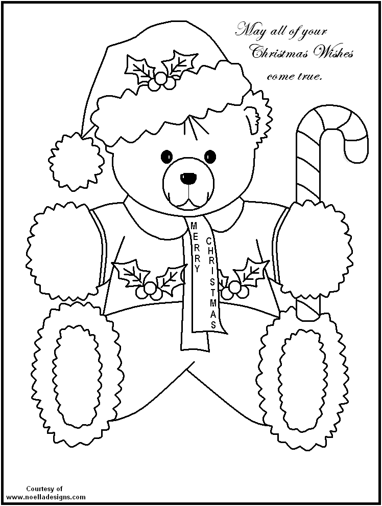Free Coloring Pages Of Teddy Bears