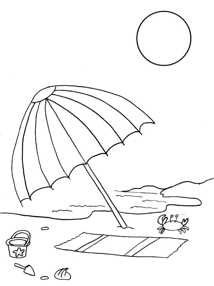 beach themed coloring pages search