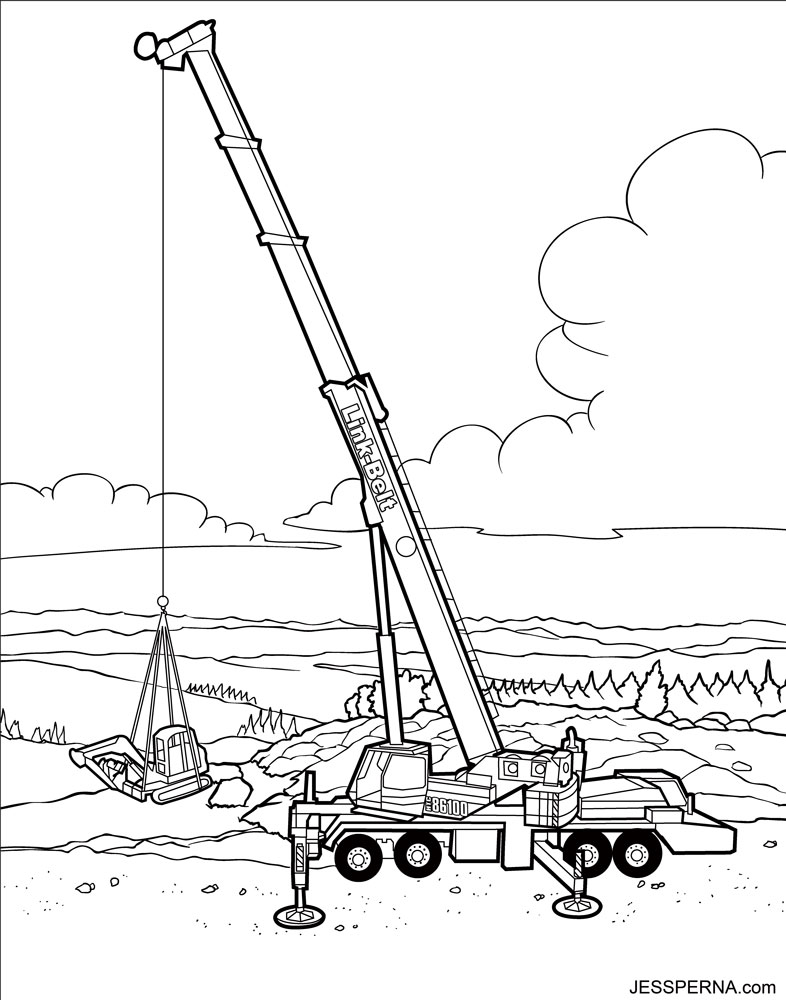 free construction vehicles coloring pages - photo#9