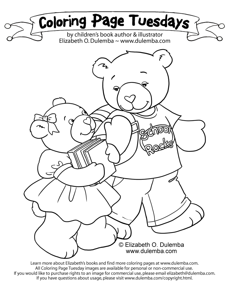 dulemba: Coloring Page Tuesday - Back-