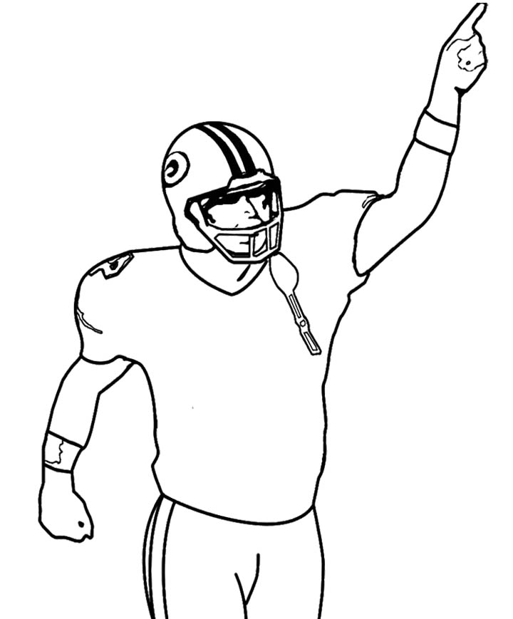 Sport : Arms Of NFL Football Coloring Page, Star Playing Football